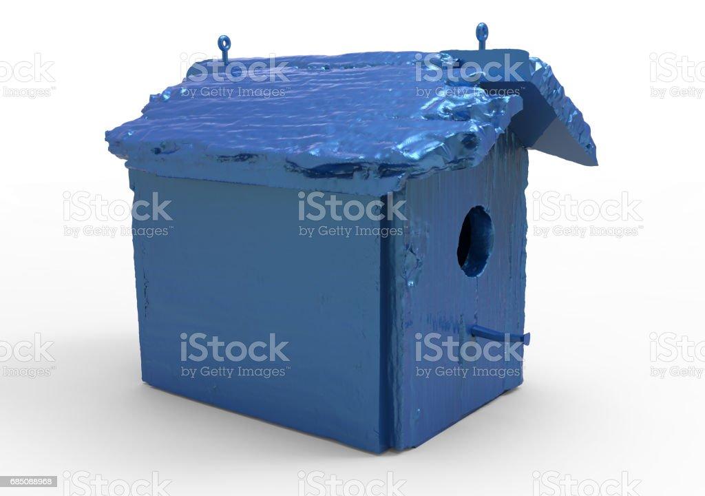 bird house / wooden house royalty-free stock photo