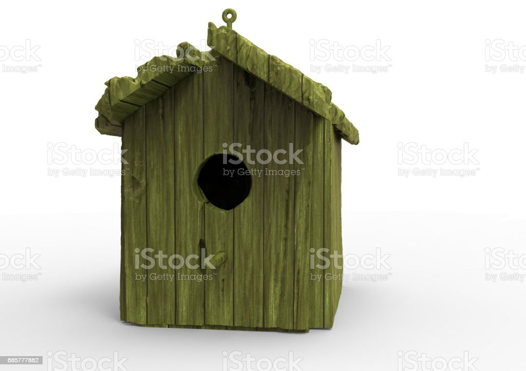 bird house / wooden house royalty-free stock photo