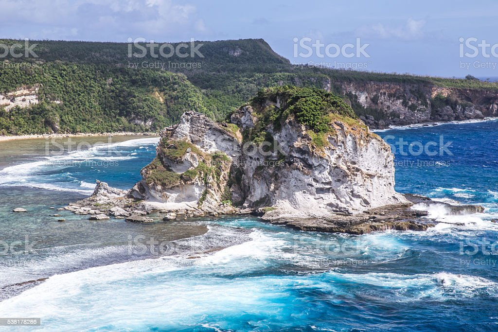 Bird Island Beach stock photo