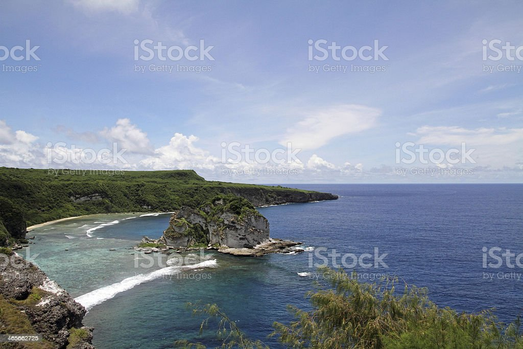 Bird island in Saipan stock photo