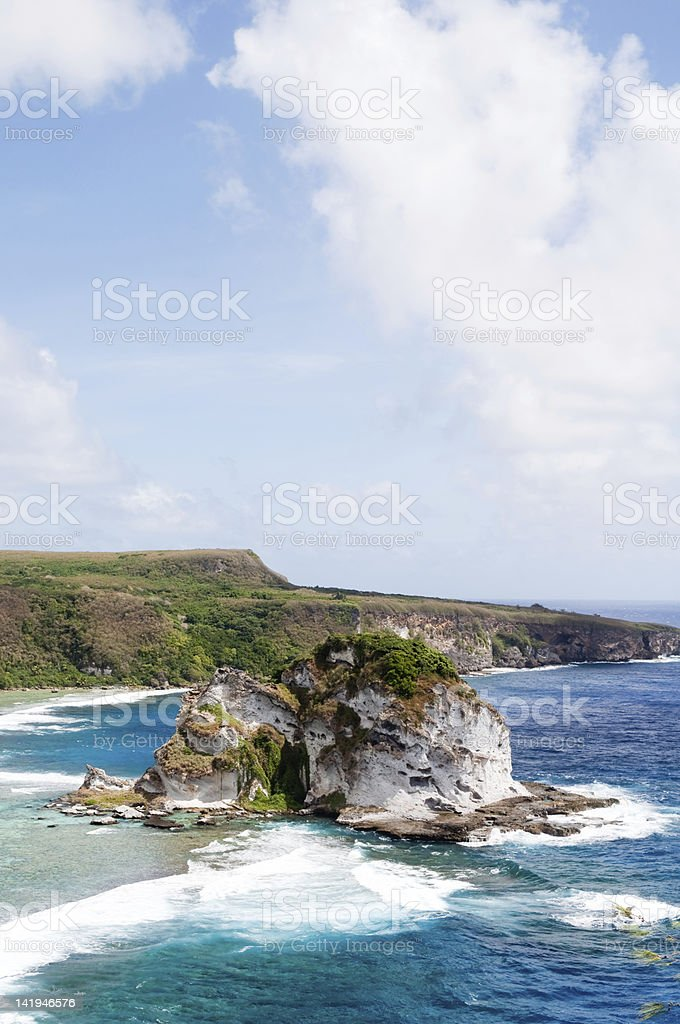 Bird Island in Saipan, USA stock photo