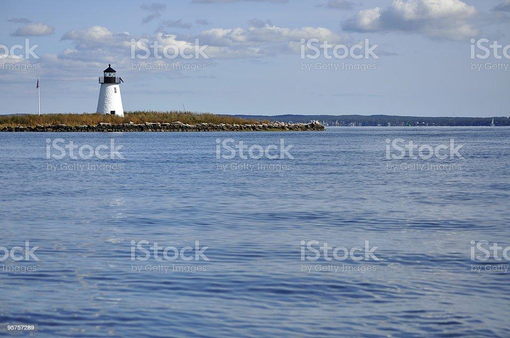 Bird Island Lighthouse, Buzzards Bay, MA stock photo