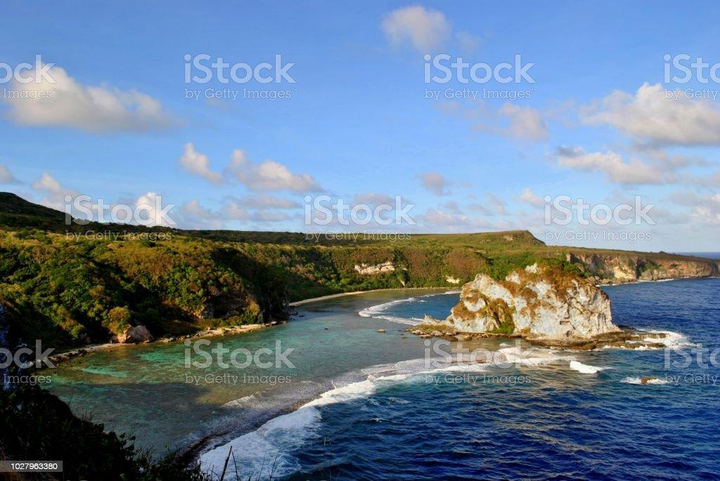 Bird Island, Saipan One of the most popular tourist destinations on Saipan, Northern Mariana Islands Beach Stock Photo