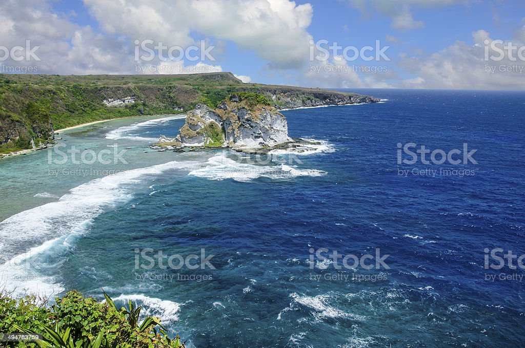 Bird Island Saipan stock photo
