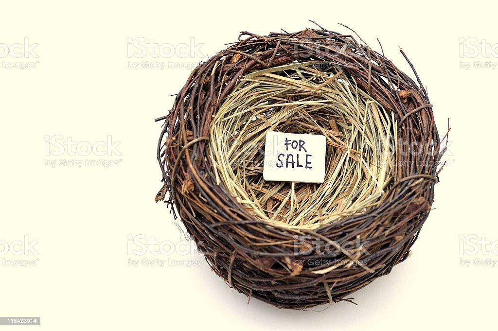 bird nest for sale stock photo
