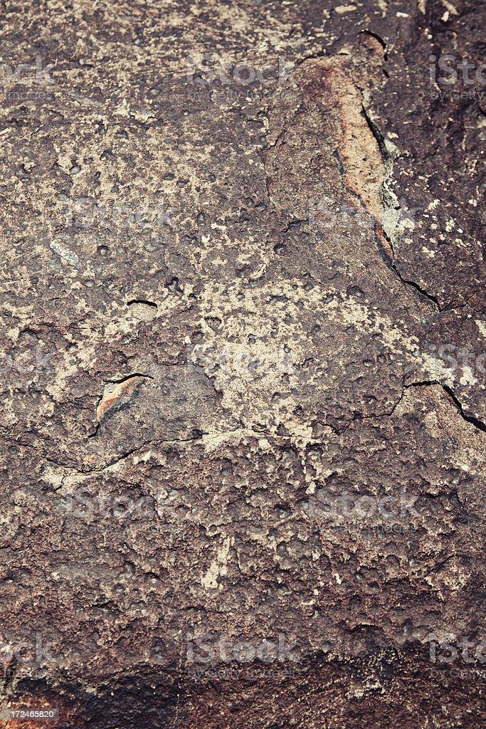 Bird Pictograph - Three Rivers Petroglyph Site royalty-free stock photo