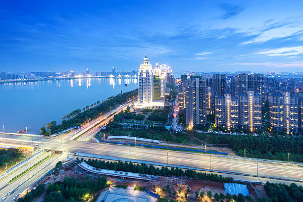 Vogel Aussicht in Wuhan, China – Foto