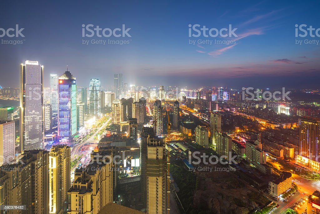 Vogel Aussicht in Wuhan, China – Foto