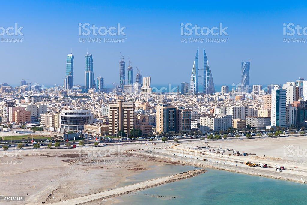 Vogel Aussicht von Manama, Bahrein. Skyline und Wolkenkratzer – Foto