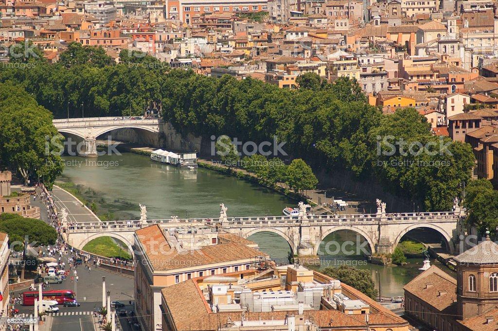 Bird view of Rome стоковое фото