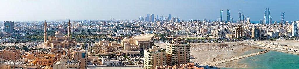 Vogel Blick auf das weite panorama von Manama, Bahrain city – Foto