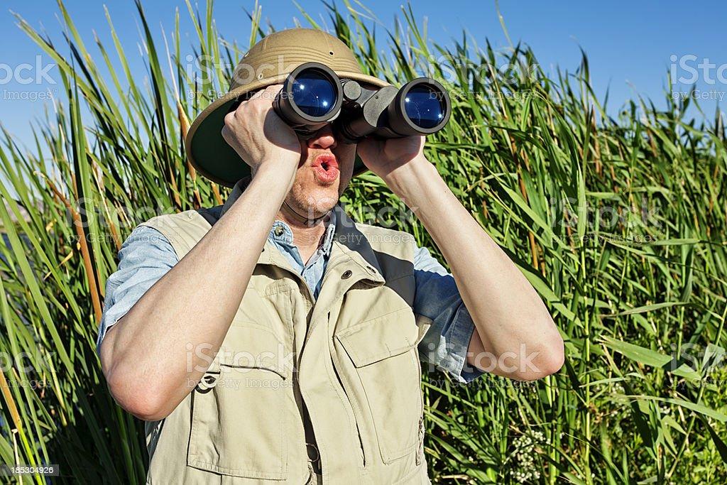 Bird Watcher on Safari royalty-free stock photo