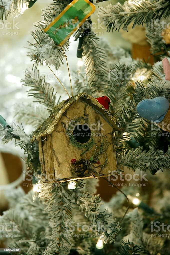 Birdhouse Christmas Tree royalty-free stock photo