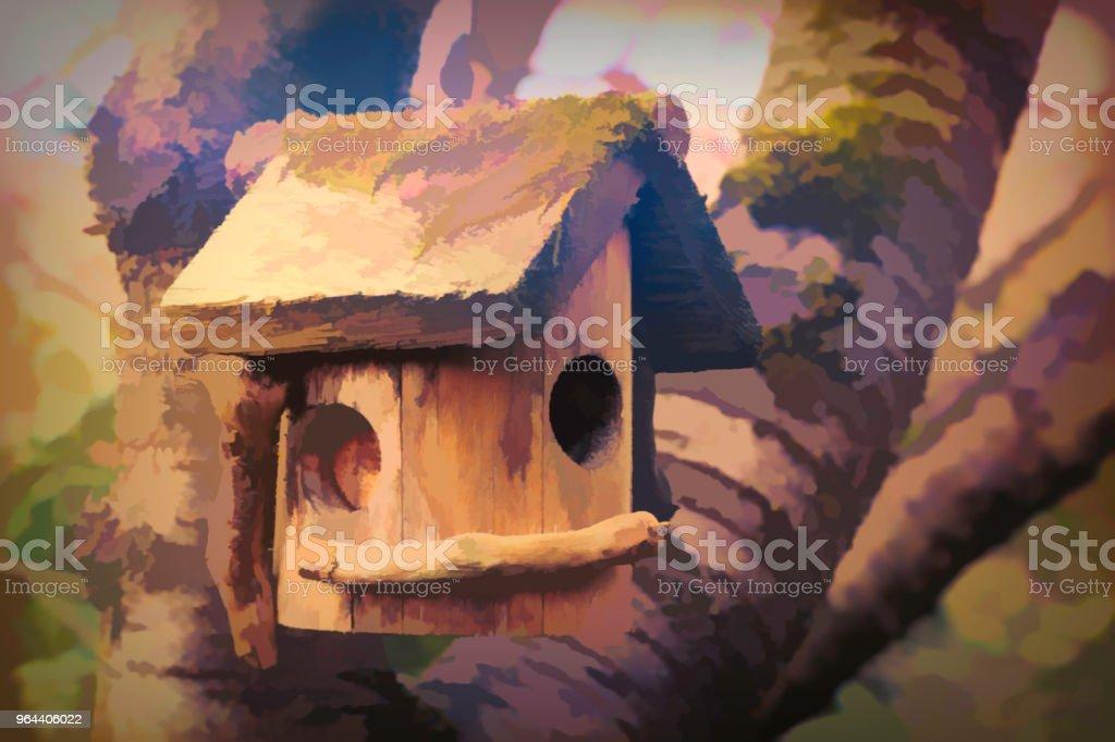 Casa de passarinho manipulação Digital - Foto de stock de Abstrato royalty-free