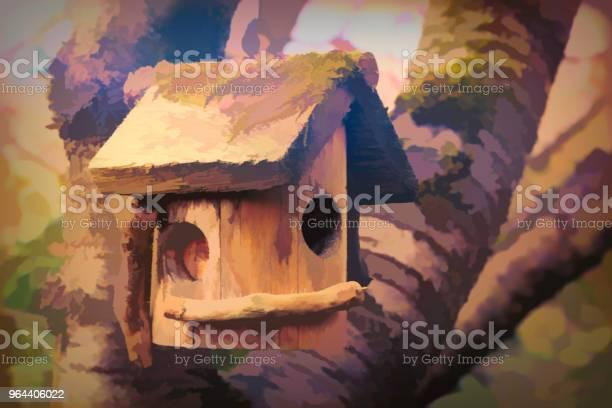 Foto de Casa De Passarinho Manipulação Digital e mais fotos de stock de Abstrato