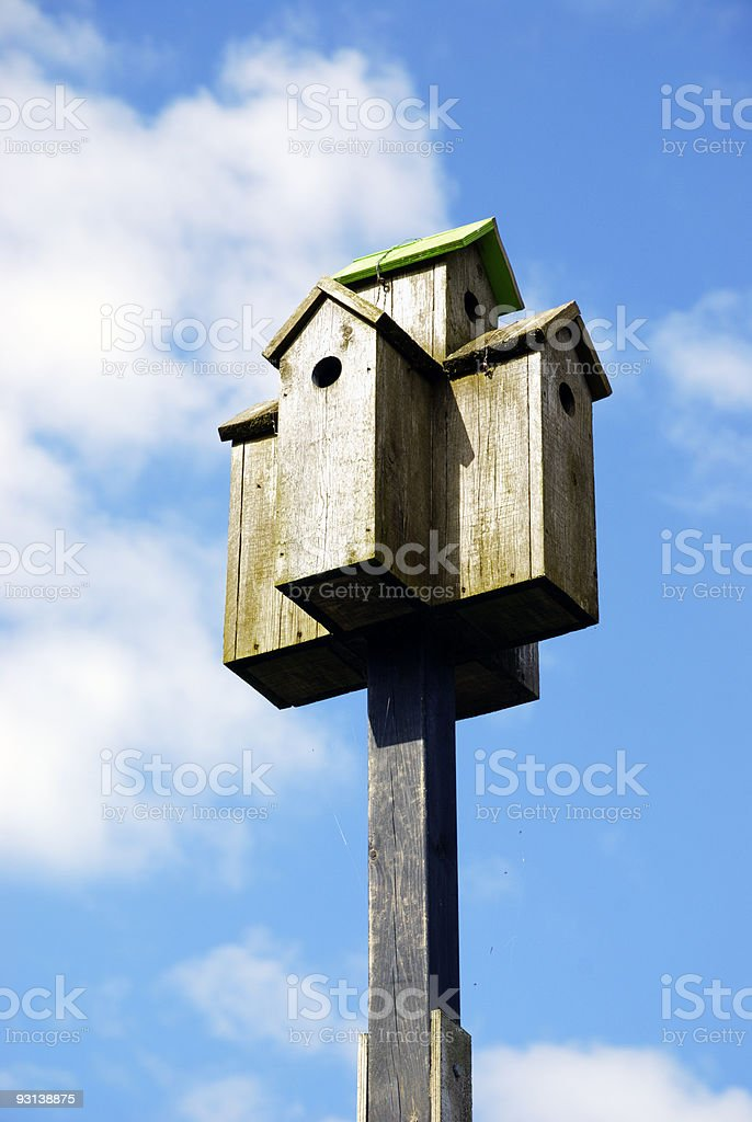 Birdhouse for five royalty-free stock photo