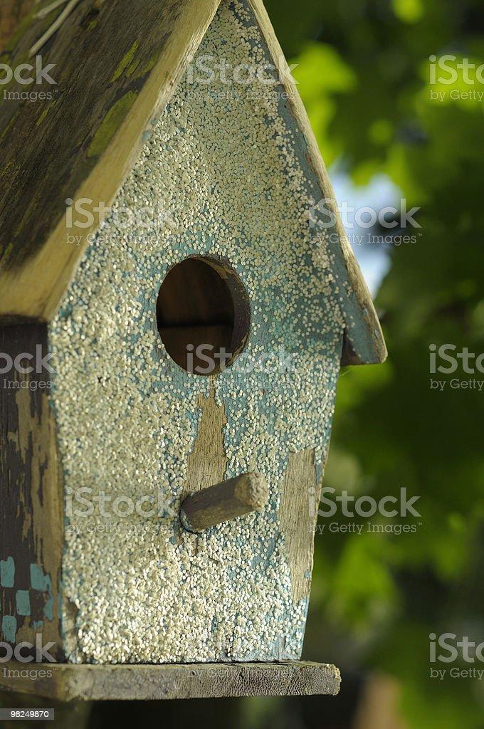 Casetta per gli uccelli in penombra foto stock royalty-free