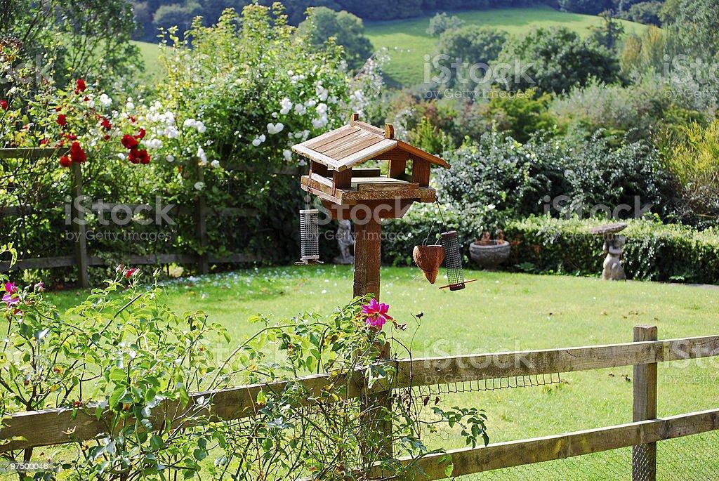 Birdhouse of pastoral garden in England royalty-free stock photo