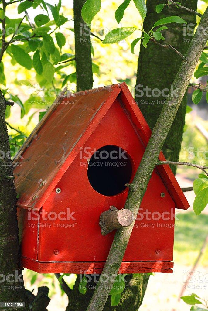birdhouse on the tree royalty-free stock photo