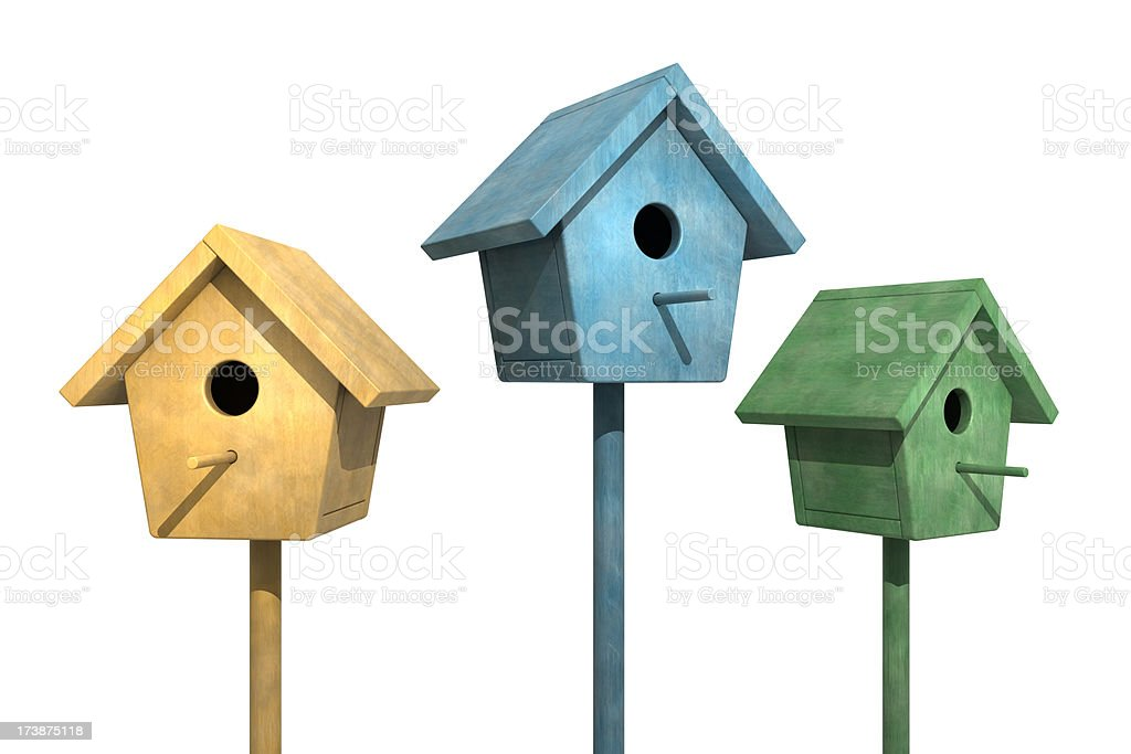 BirdHouse Row royalty-free stock photo