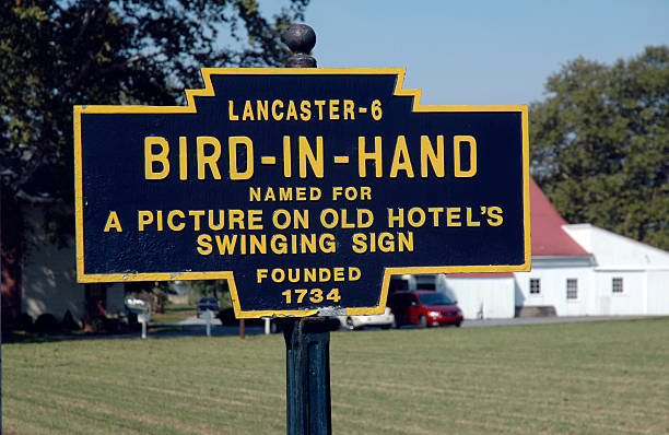 bird-in-hand - place sign stock pictures, royalty-free photos & images