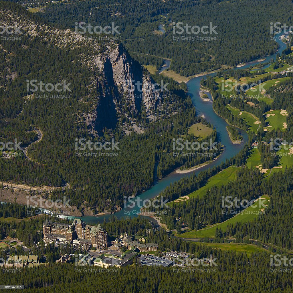 Bird's eye view of Banff royalty-free stock photo
