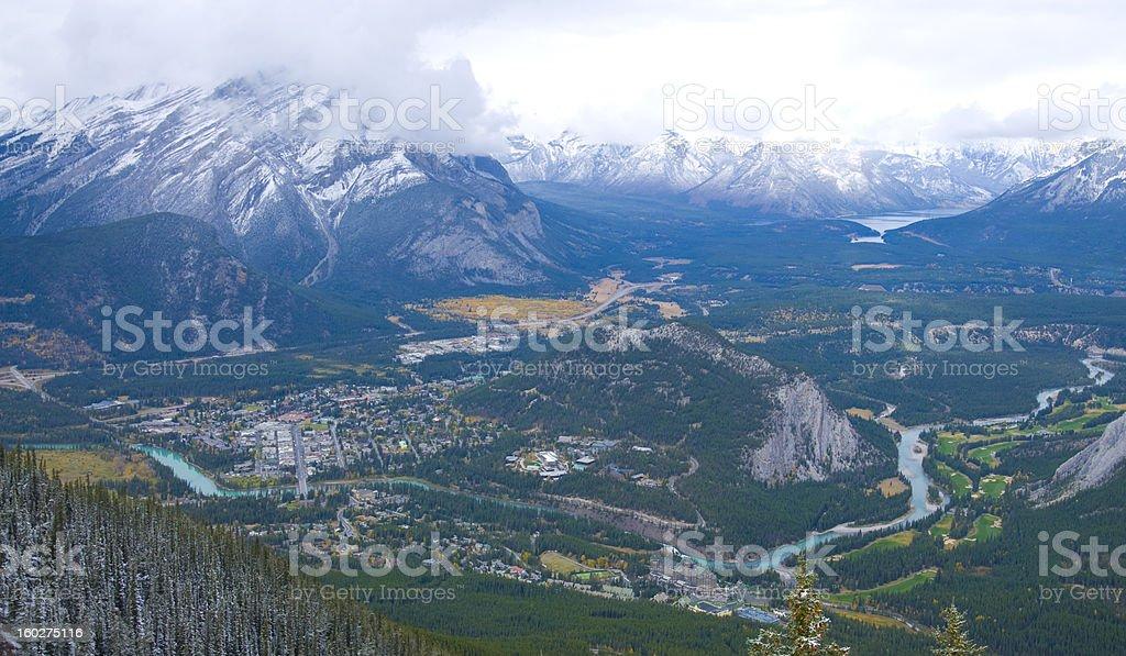 Bird's eye view of Banff royalty-free stock photo