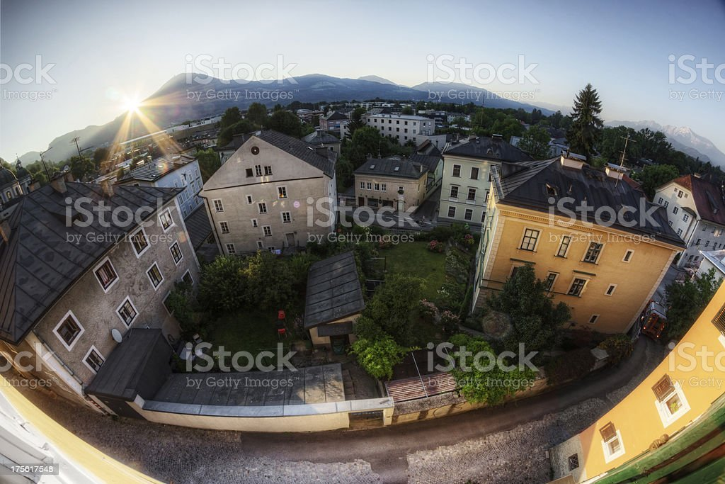 Bird's Eye View of Historic Europe royalty-free stock photo