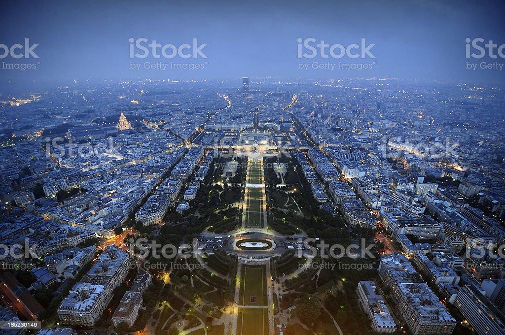 Bird's Eye View of Paris royalty-free stock photo