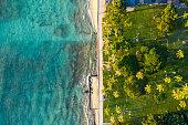 Birds Eye View of the Beach in Honolulu Hawaii