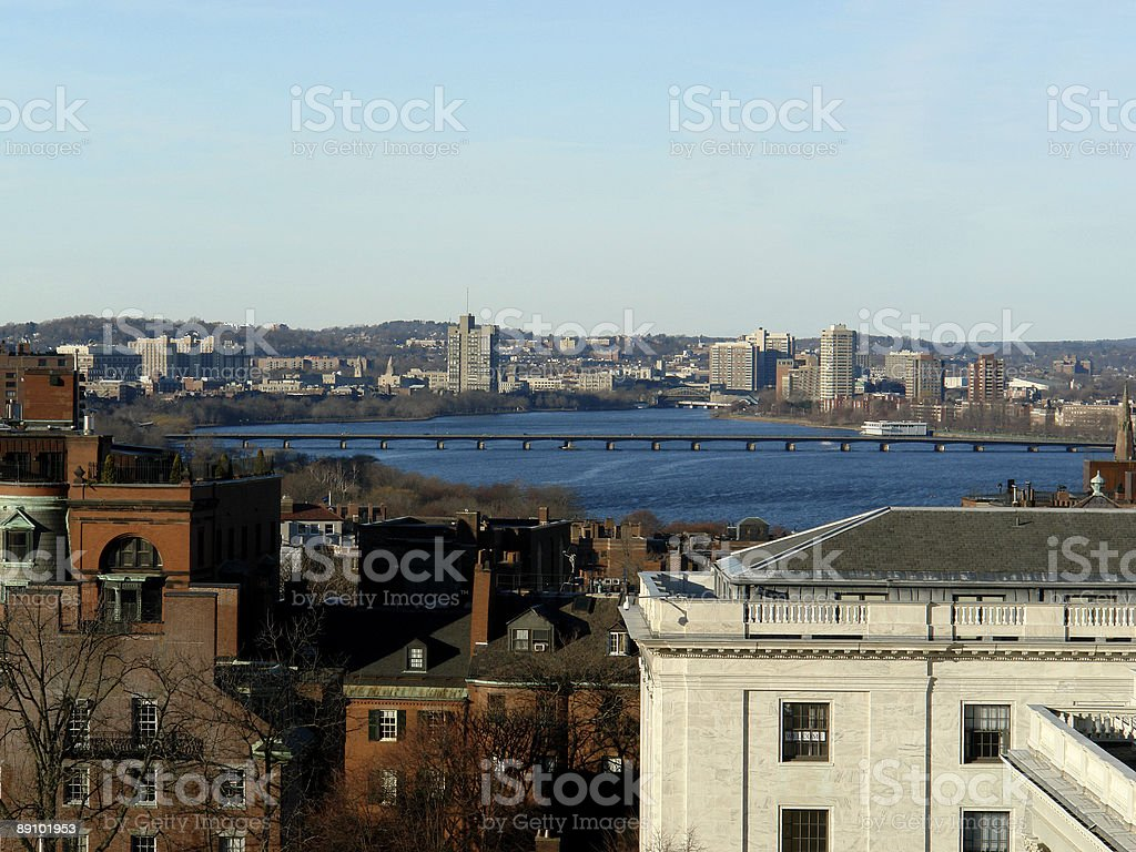 Bird's Eye View Of The Charles River royalty-free stock photo