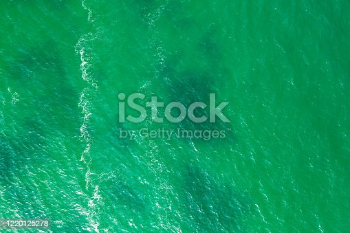 Bird's eye view of the turquoise waters