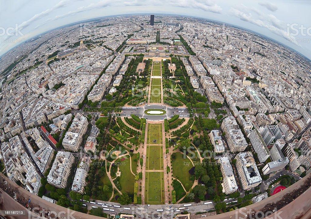 Bird's eye view  the city of Paris royalty-free stock photo