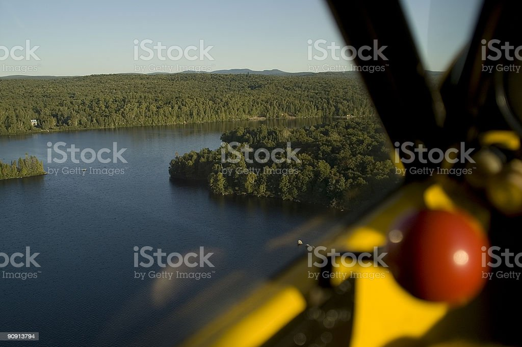 Bird's eyeview from a float plane stock photo