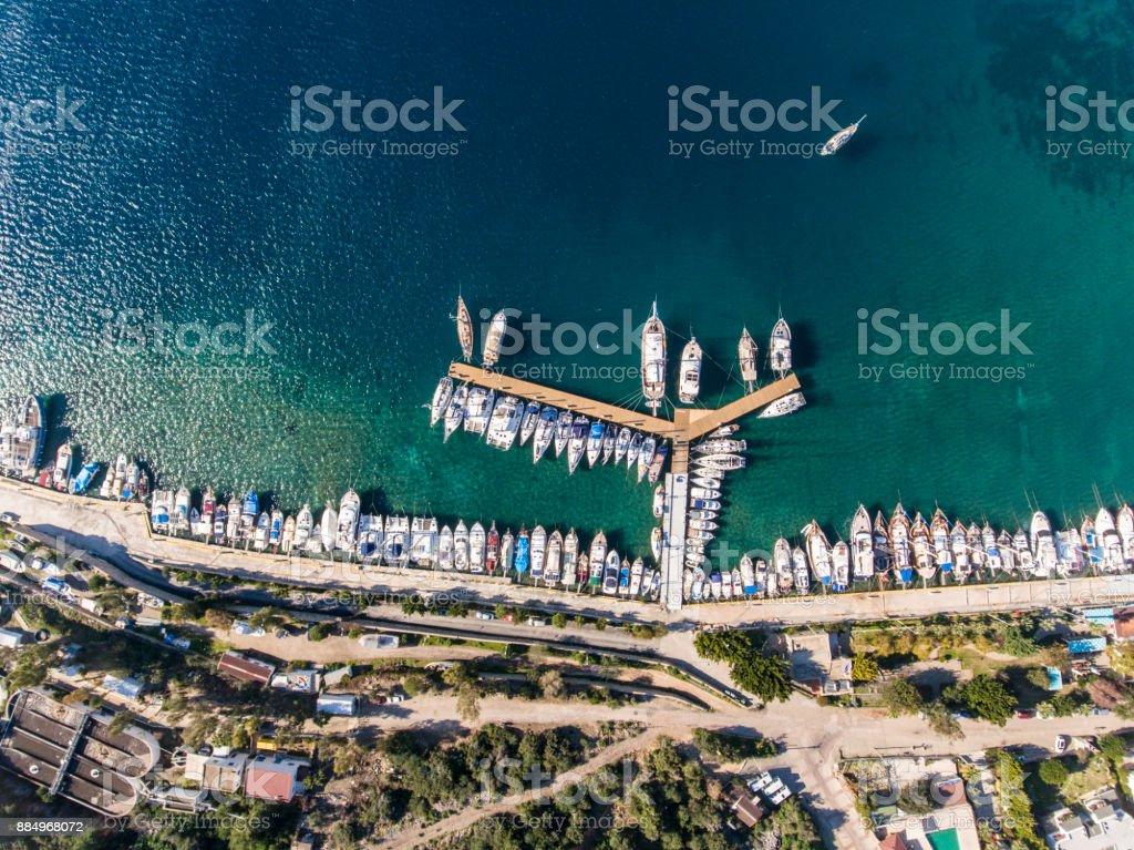 Eyeview de l'oiseau de Bodrum Marina - Photo