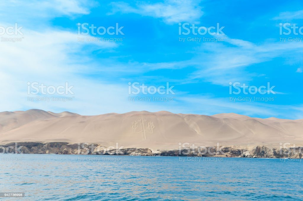 Birds in Ballestas Island (Paracas/Pisco, Peru) stock photo