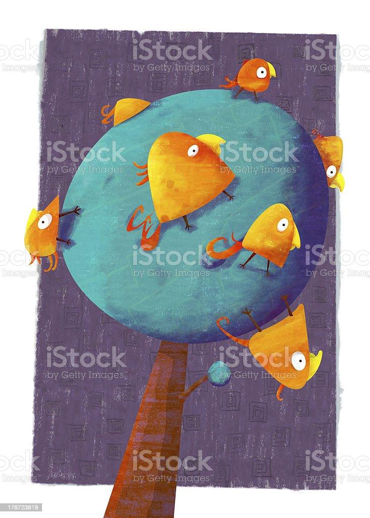 Birds Tree royalty-free stock photo