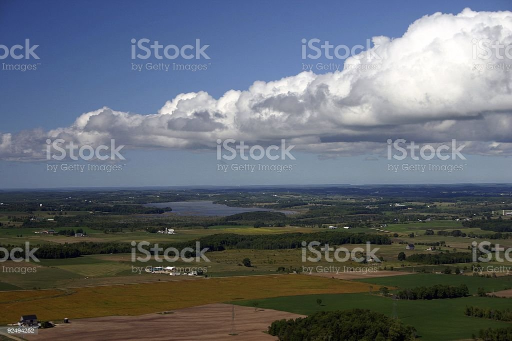bird's-eye view of countryside royalty-free stock photo