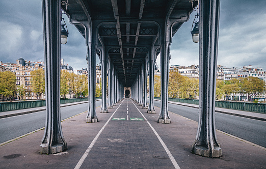 Bir-Hakeim Bridge in Paris France