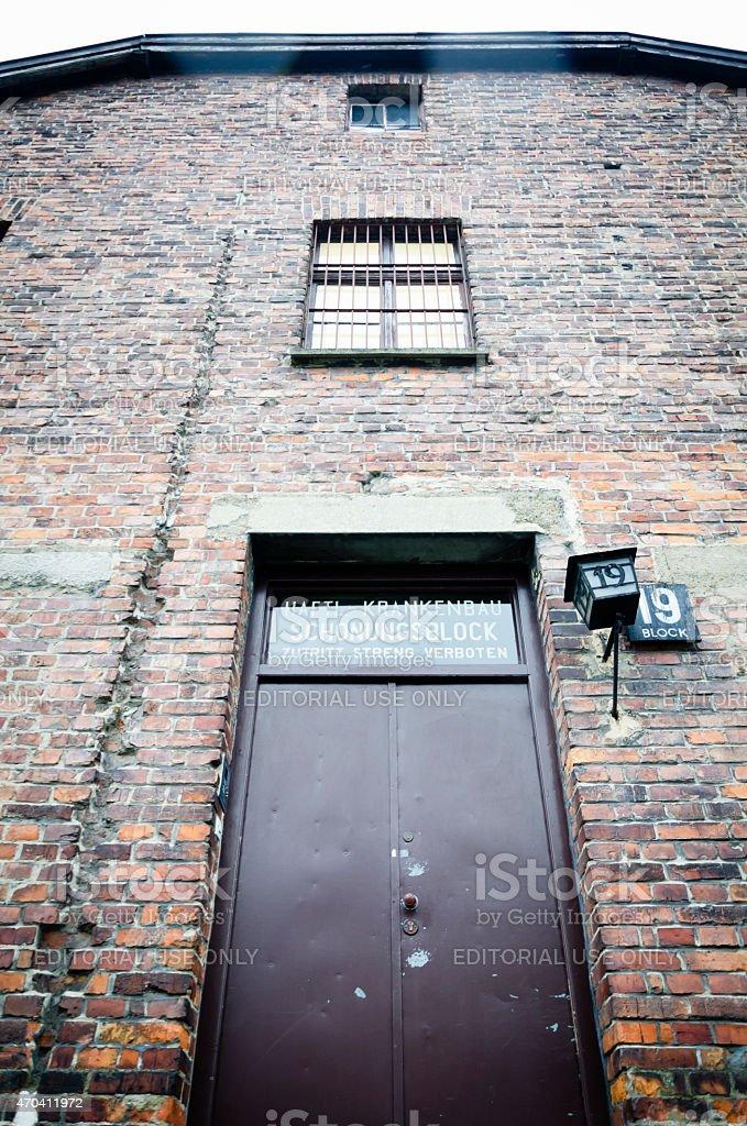 Birkenau Konzentrationslager in Oswiecim, Polen, Eingang in block 19 – Foto