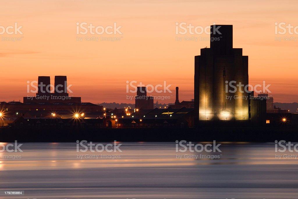 Birkenhead Skyline stock photo