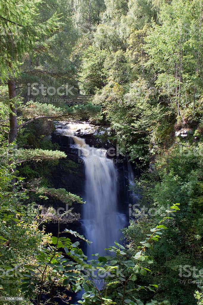 Birks Of Aberfeldy waterfall. stock photo