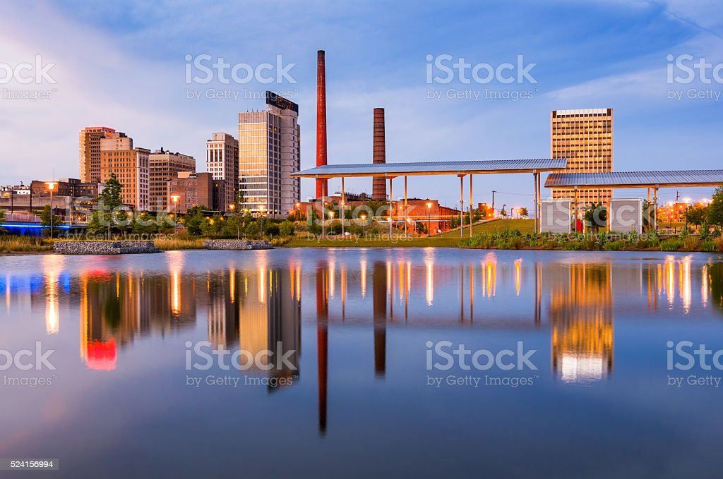 Birmingham Alabama Skyline stock photo