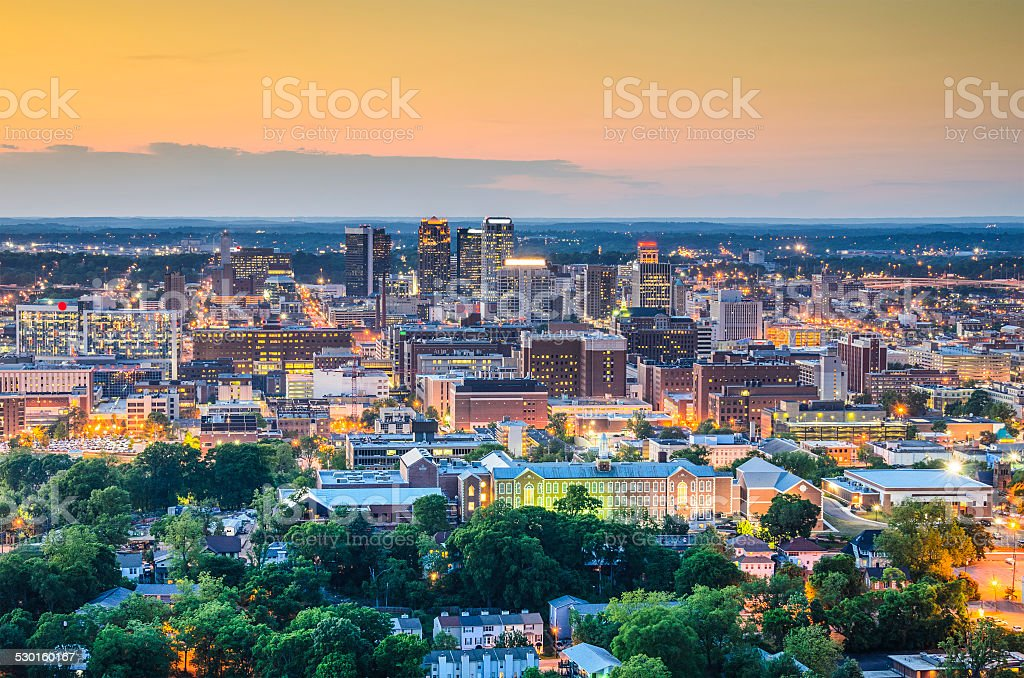 Birmingham, Alabama Skyline stock photo
