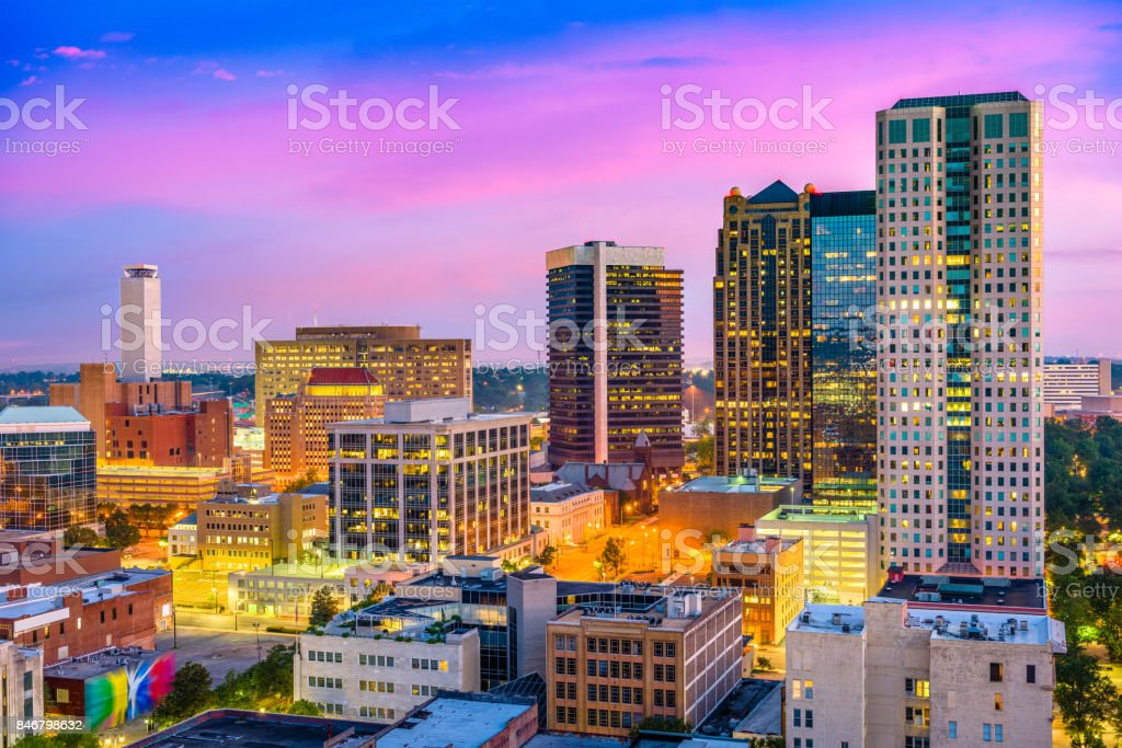 Birmingham, Alabama Skyliune stock photo