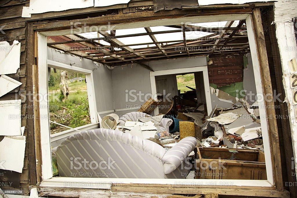 Birmingham, Alabama, USA deadly F5 Tornado debris royalty-free stock photo