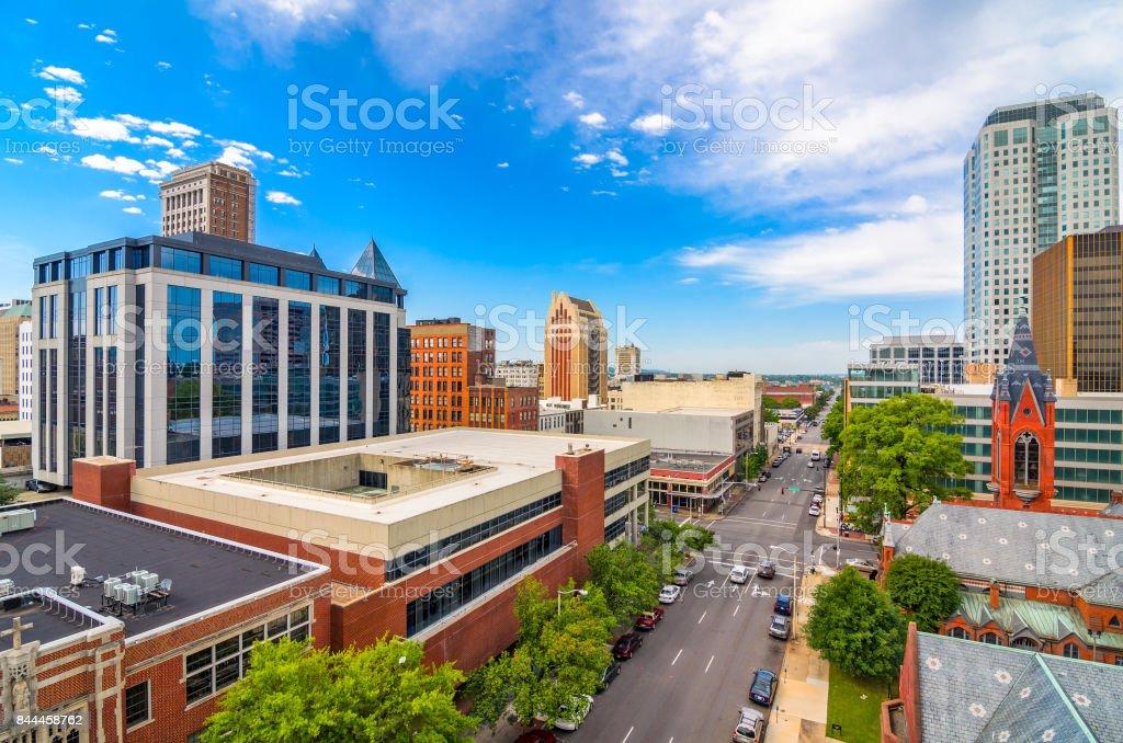 Birmingham, Alabama, USA Birmingham, Alabama, USA downtown city skyline. Alabama - US State Stock Photo