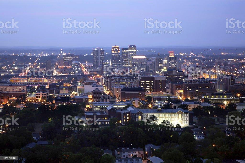 Birmingham at Night - Horizontal stock photo