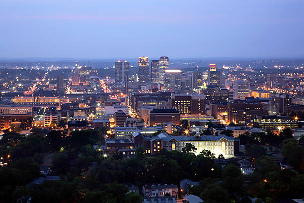 Birmingham at Night - Horizontal stock photo