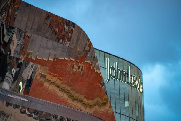 birmingham buildings with john lewis shop prominent - john lewis стоковые фото и изображения
